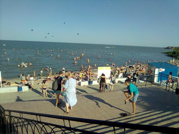 Пляж Тополёк Таганрог море