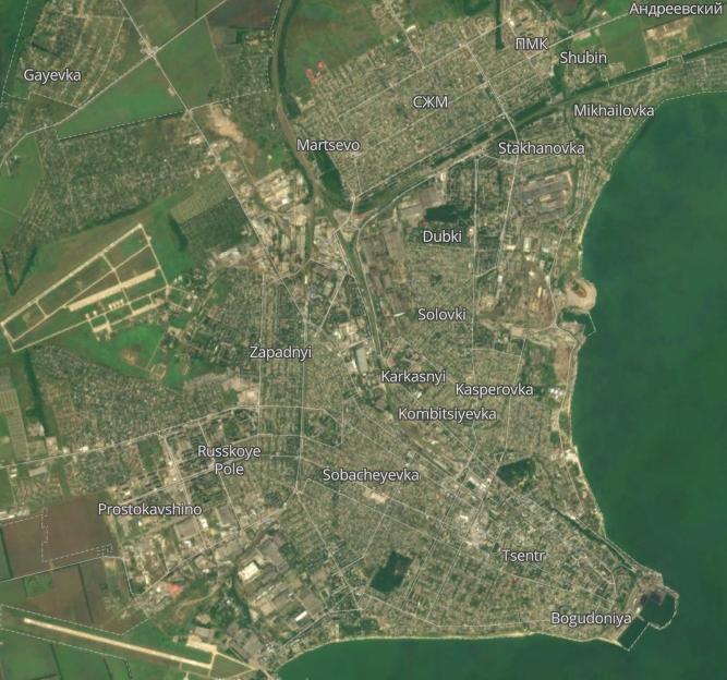 Таганрог карта города