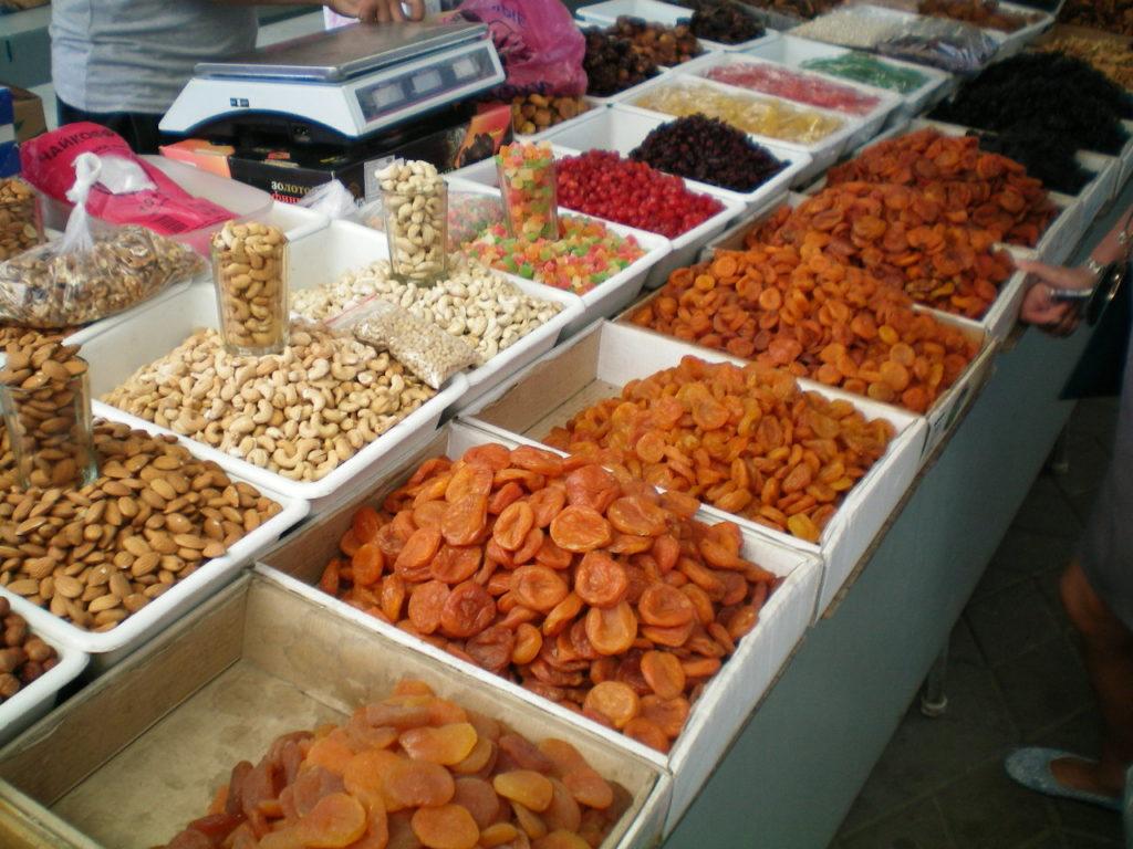 Центральный рынок Таганрога сухофрукты