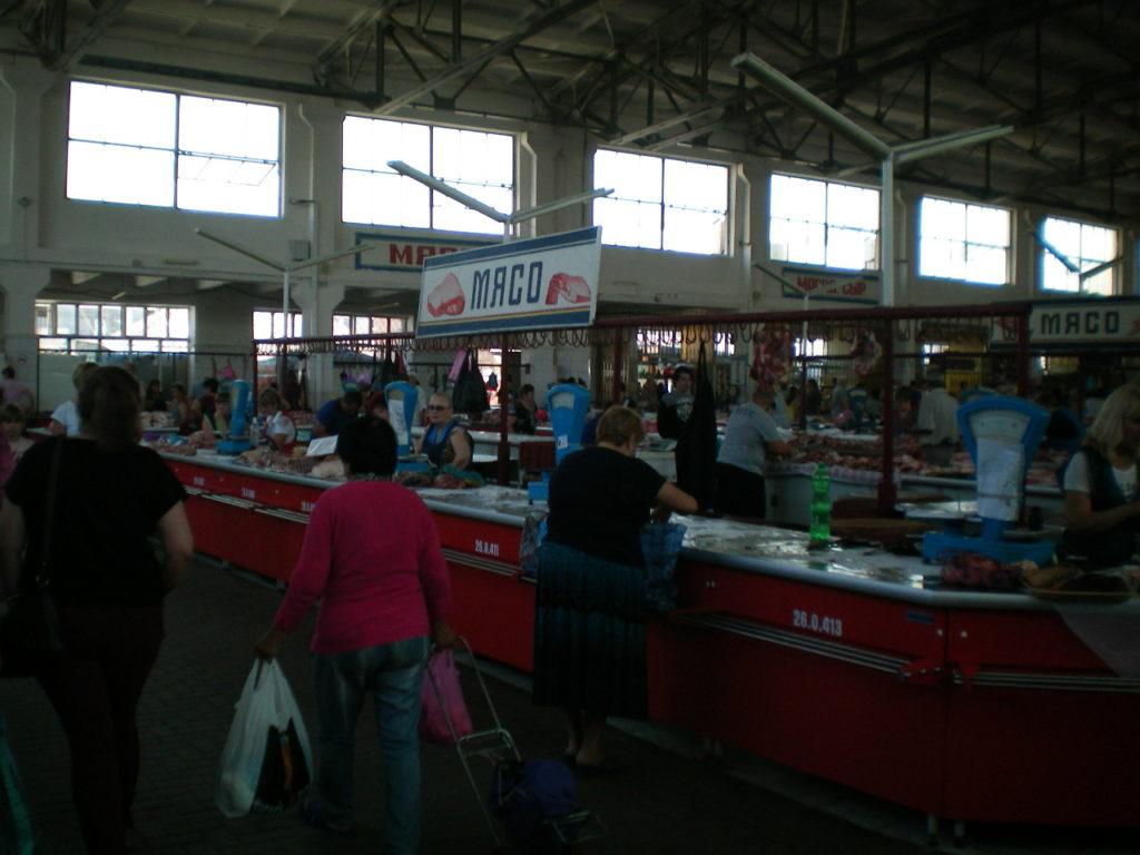 Центральный рынок Таганрога мясной павильон