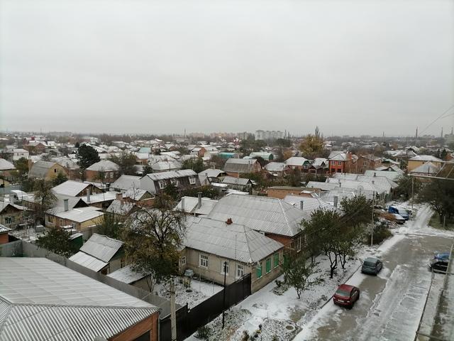 Первый снег выпал в Таганроге