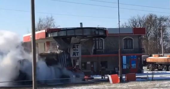 ЧП в Таганроге возгорание и пожар на автозаправочной станции