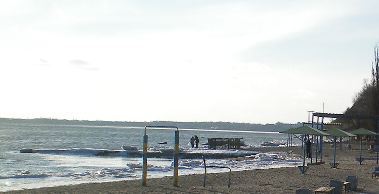 Самозахват пляжа в Таганроге