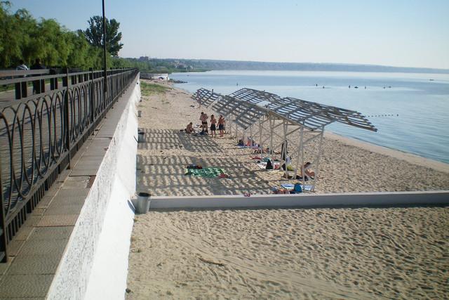 Пляж санатория Тополь в Таганроге Тополёк
