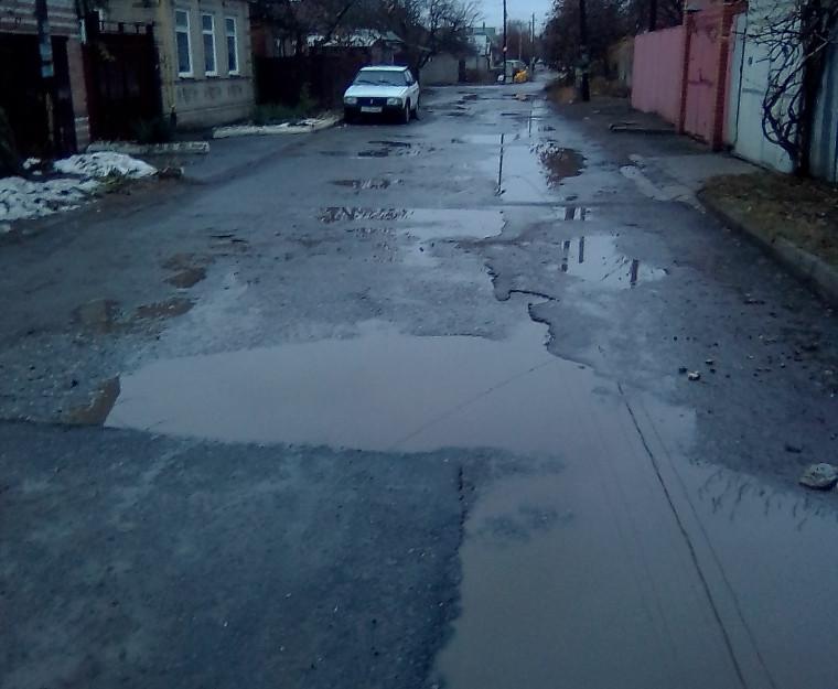 Подали жалобу президенту на ужасные дороги жители Таганрога