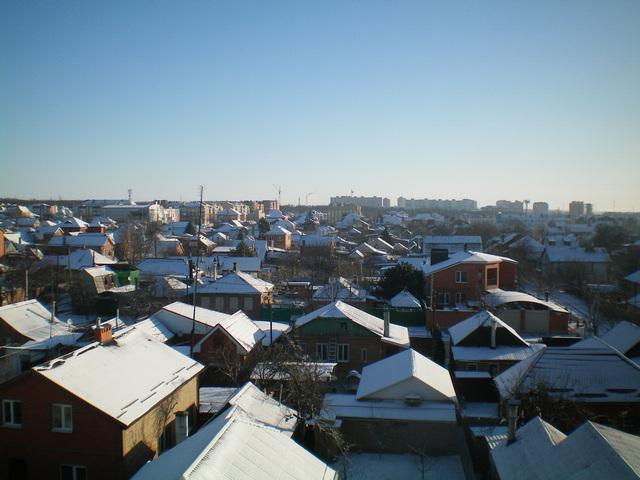 В Таганрог пришёл внезапный снег в начале марта