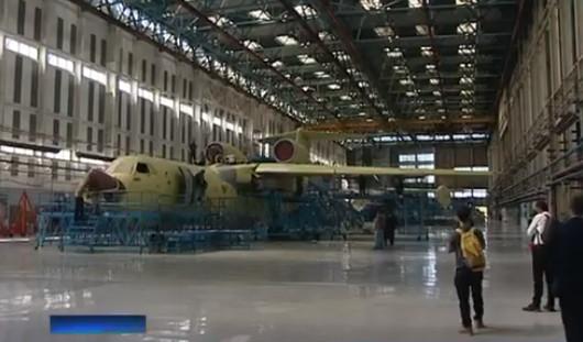 ТАНТК им. Бериева Таганрог сборочный цех самолёт Бе 200