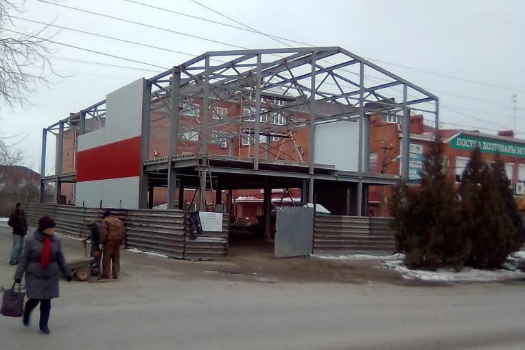 Магазин Магнит строится в Северном районе Таганрога