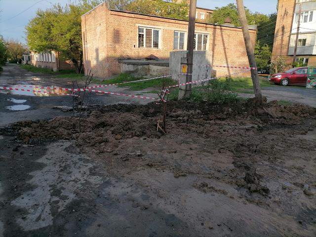 Авария водопровода в Таганроге после устранения
